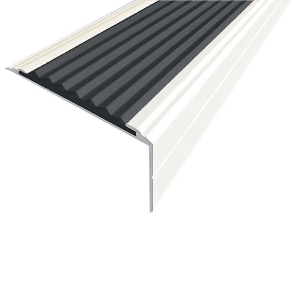 Противоскользящий анодированный алюминиевый угол-порог Премиум 50 мм 1,0 м черный