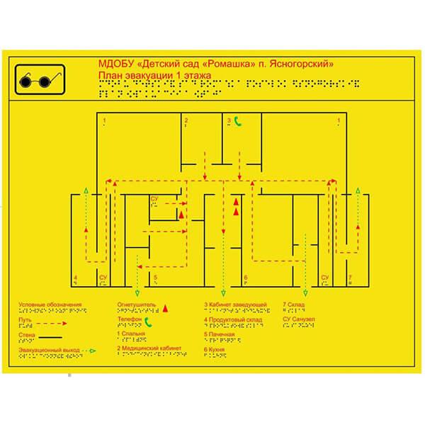 Тактильная мнемосхема 470x610 композит