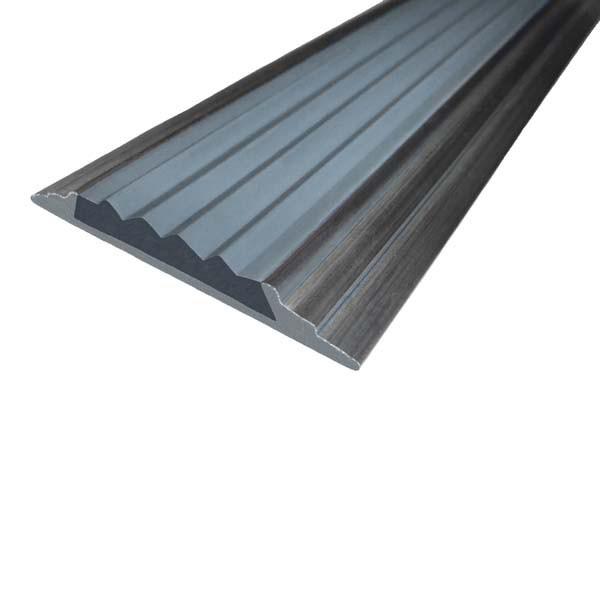 Противоскользящая алюминиевая самоклеющаяся накладная полоса 46 мм/5 мм 3,0 м серый