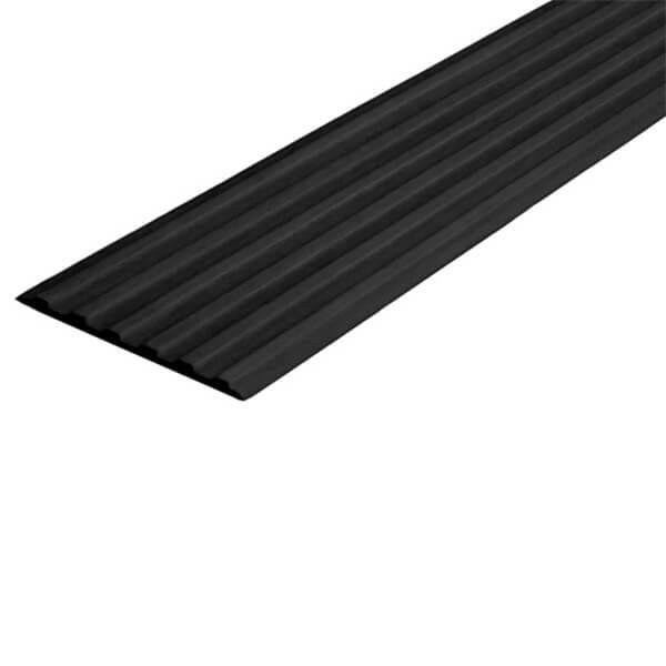 Противоскользящая тактильная направляющая самоклеющаяся полоса 40 мм черный