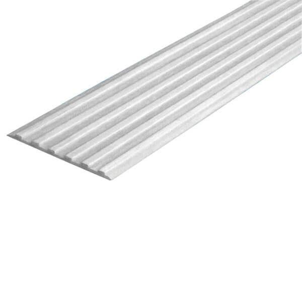 Противоскользящая тактильная направляющая самоклеющаяся полоса 40 мм белый