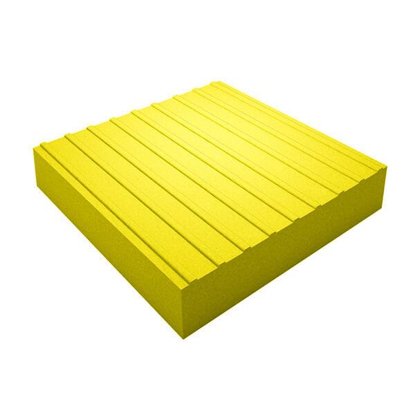 Бетонная тактильная плитка Прямой риф 500x500x60 мм