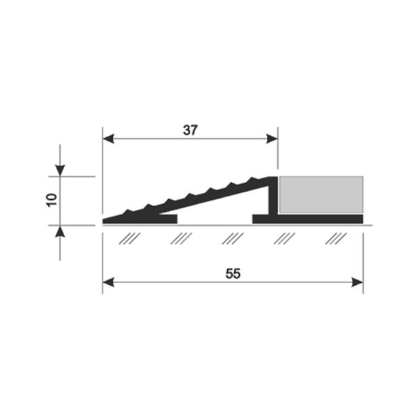 Универсальное наружное обрамление АЛ-10 10x55 мм