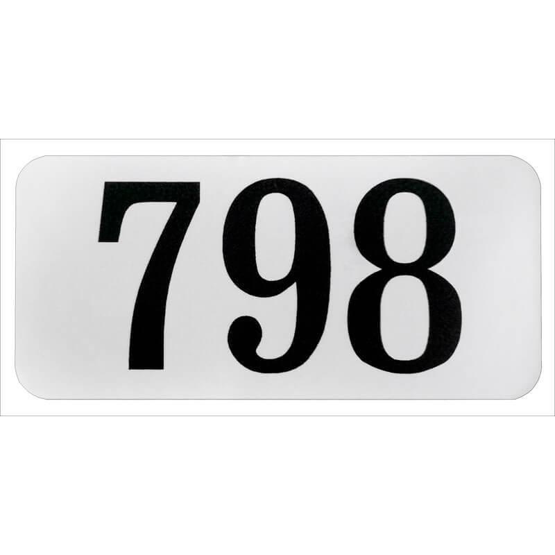 Наклейка с номером для почтовых ящиков 21х45 мм
