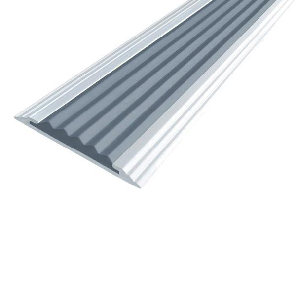 Противоскользящая алюминиевая полоса Стандарт 3,0 м 40 мм/5,6 мм серый