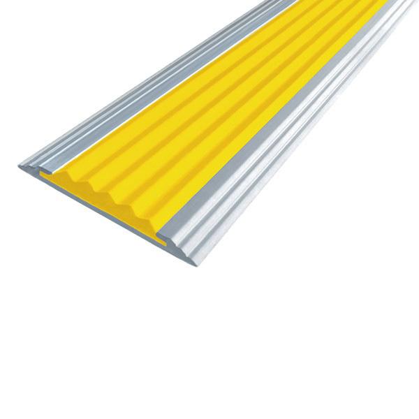 Противоскользящая алюминиевая полоса Стандарт 3,0 м 40 мм/5,6 мм желтый