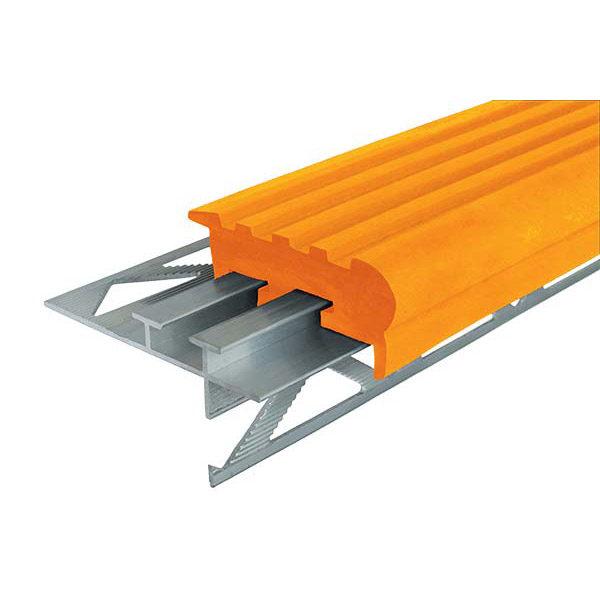 """Закладной противоскользящий профиль """"Уверенный Шаг"""" (УШ-50) 2,4 м оранжевый"""