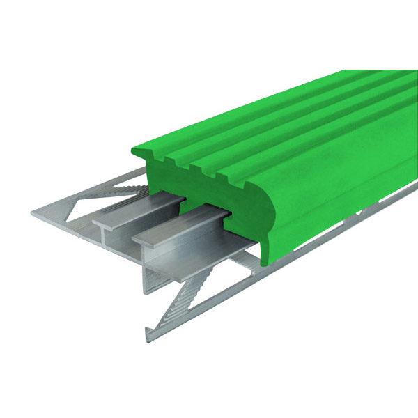 """Закладной противоскользящий профиль """"Уверенный Шаг"""" (УШ-50) 2,4 м зеленый"""