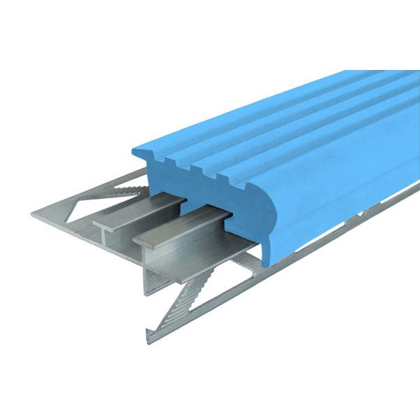 Закладной противоскользящий профиль «Уверенный Шаг» (УШ-50) 2,4 м голубой