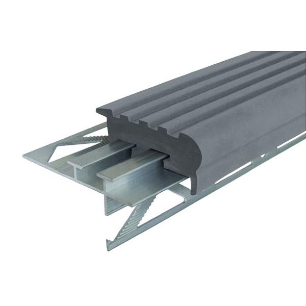 Закладной противоскользящий профиль «Уверенный Шаг» (УШ-50) 1,2 м серый