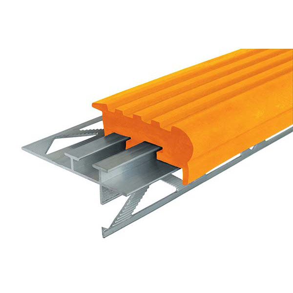 """Закладной противоскользящий профиль """"Уверенный Шаг"""" (УШ-50) 1,2 м оранжевый"""