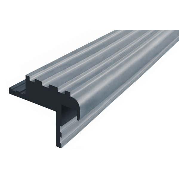 Закладной противоскользящий профиль «Безопасный Шаг» (БШ-40) серый