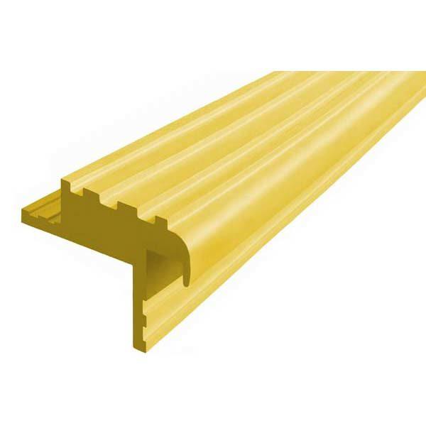 Закладной противоскользящий профиль «Безопасный Шаг» (БШ-40) желтый