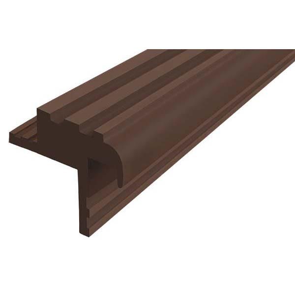 """Закладной противоскользящий профиль """"Безопасный Шаг"""" (БШ-30) темно-коричневый"""