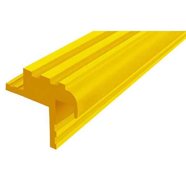 Закладной противоскользящий профиль «Безопасный Шаг» (БШ-30) желтый