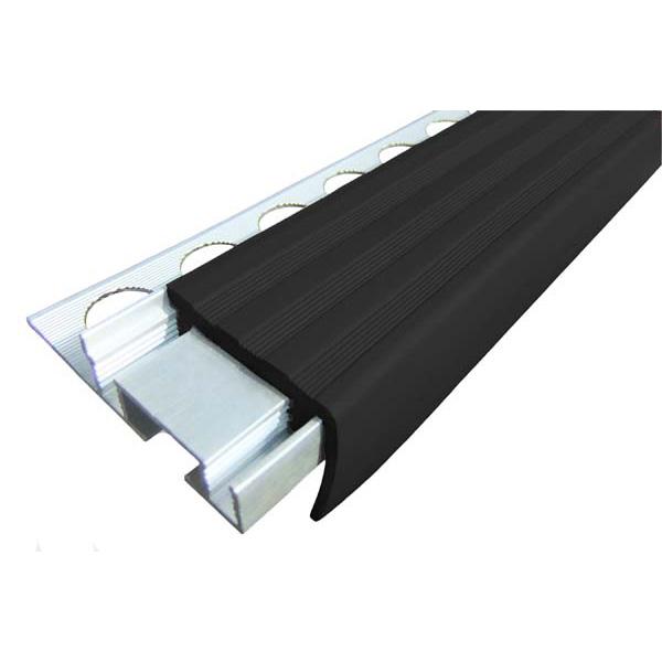 Закладной противоскользящий алюминиевый профиль ALPB 2,7 м 32 мм/20 мм черный