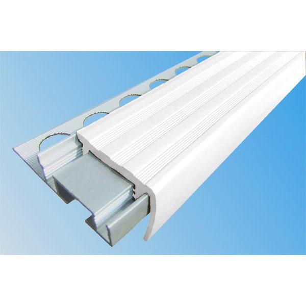 Закладной противоскользящий алюминиевый профиль ALPB 2,7 м 32 мм/20 мм белый