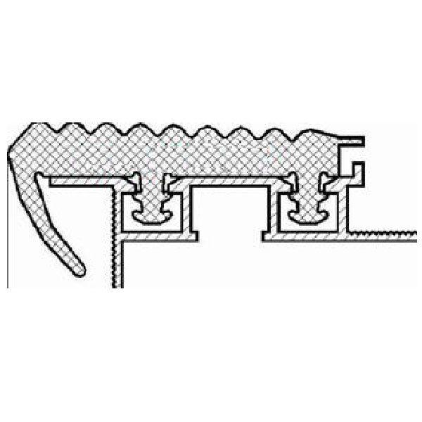 Противоскользящий алюминиевый закладной профиль «SafeStep»