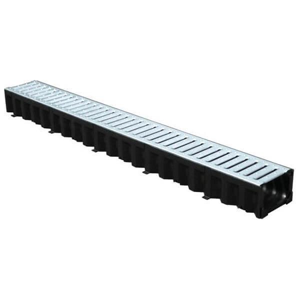 Лоток пластиковый Top 1000/80 с оцинкованной решеткой