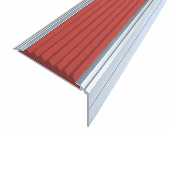 Противоскользящий анодированный алюминиевый угол-порог Премиум 50 мм 3,0 м красный