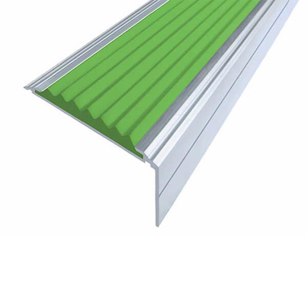 Противоскользящий анодированный алюминиевый угол-порог Премиум 50 мм 1,0 м зеленый