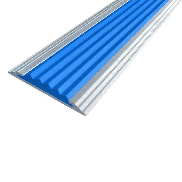 Противоскользящая алюминиевая полоса Стандарт 2,0 м 40 мм/5,6 мм синий