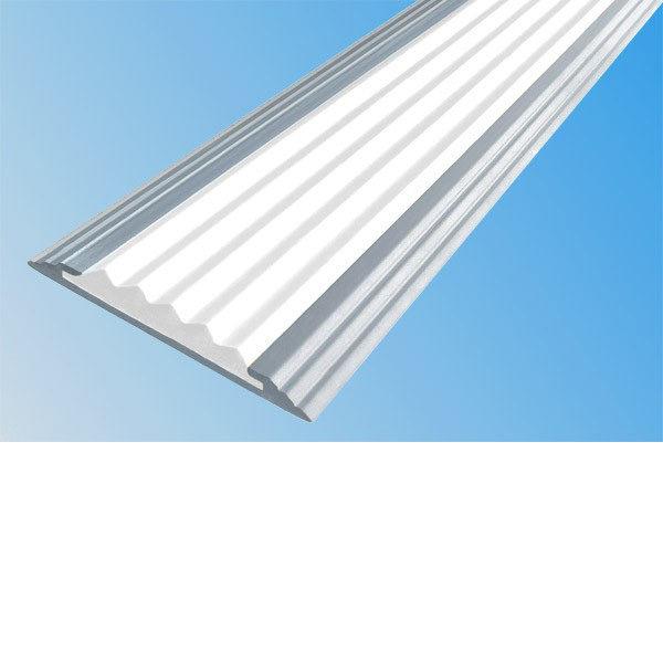 Противоскользящая алюминиевая полоса Стандарт 2,0 м 40 мм/5,6 мм белый