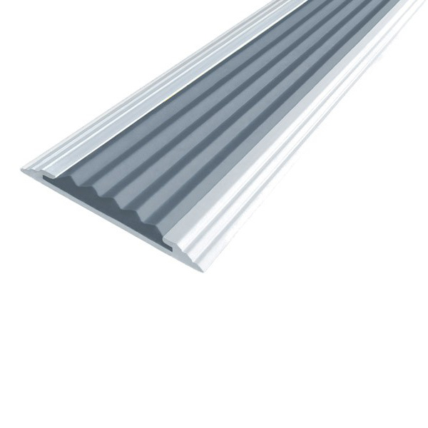 Противоскользящая алюминиевая полоса Стандарт 1,33 м 40 мм/5,6 мм серый