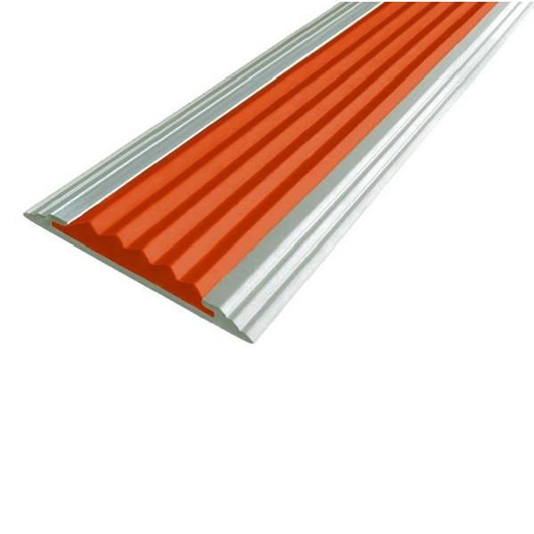 Противоскользящая алюминиевая полоса Стандарт 1,33 м 40 мм/5,6 мм оранжевый