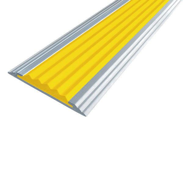 Противоскользящая алюминиевая полоса Стандарт 1,33 м 40 мм/5,6 мм желтый