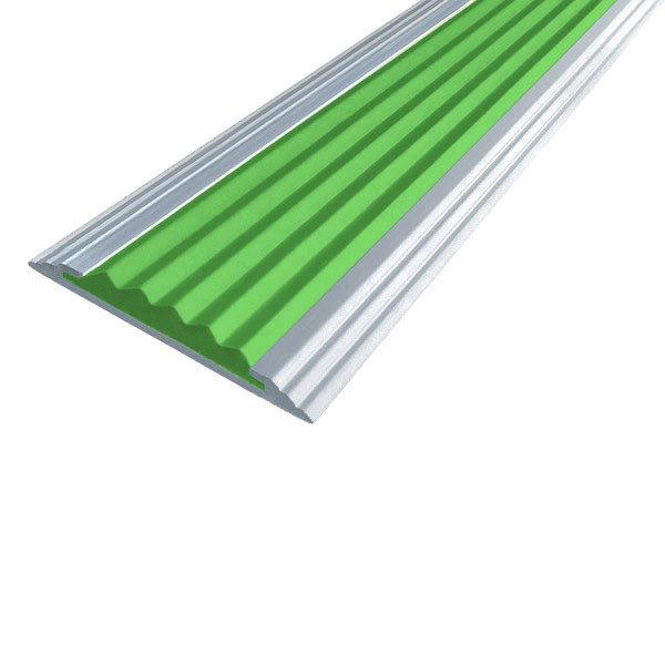 Противоскользящая алюминиевая полоса Стандарт 1,0 м 40 мм/5,6 мм зеленый