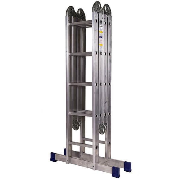 Лестница алюминиевая трансформер 2х4+2х5 ступеней