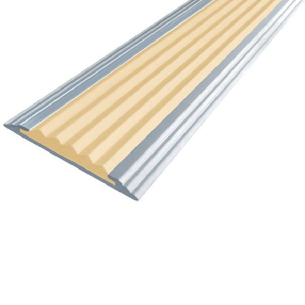 Противоскользящая алюминиевая самоклеющаяся полоса Стандарт 40 мм 1,8 м бежевый
