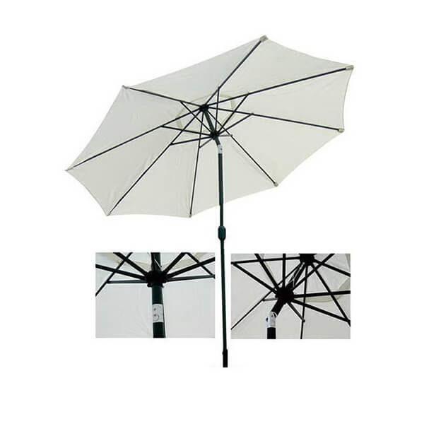 Зонт с центральной стойкой Верона, бежевый, наклонный, 2,7 м