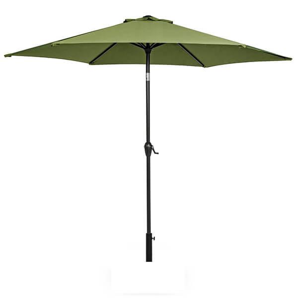 Зонт с центральной стойкой Салерно, оливковый, 2,7 м
