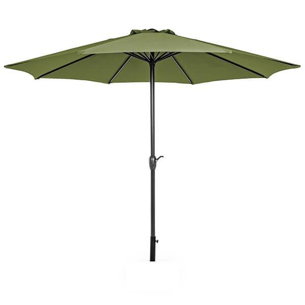 Зонт с центральной стойкой Салерно, оливковый, 3 м