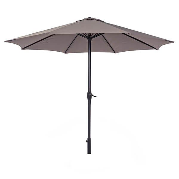 Зонт с центральной стойкой Салерно, коричневый, 3 м