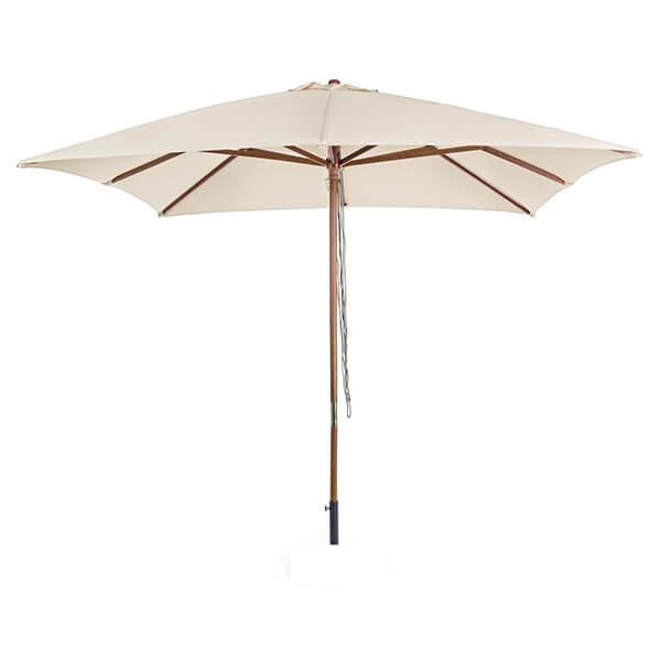 Зонт с центральной стойкой Неаполь, бежевый, квадратный