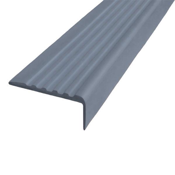 Противоскользящий угол для ступеней 35х15 мм самоклеющийся, серый, 12,5м