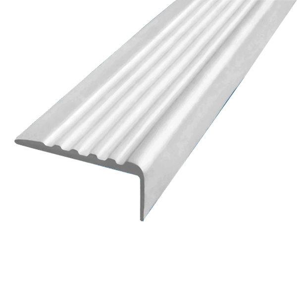 Противоскользящий угол для ступеней 35х15 мм самоклеющийся, белый, 12,5м