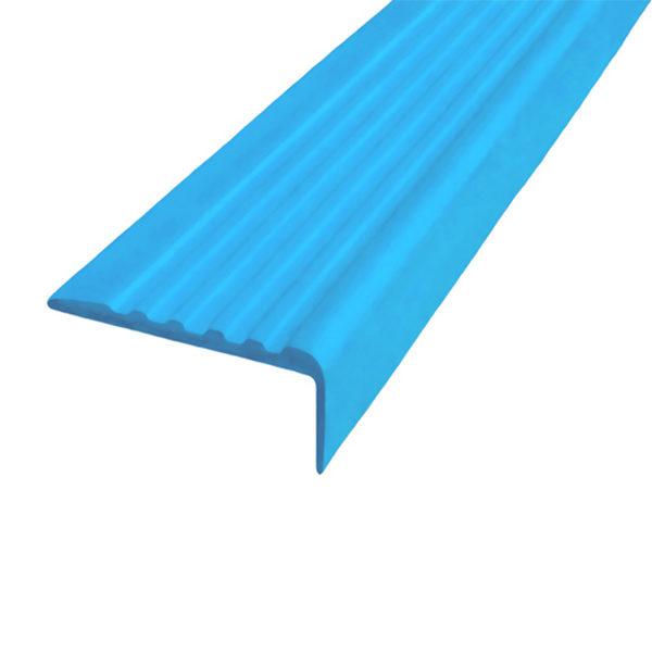Противоскользящий угол для ступеней 35х15 мм самоклеющийся, голубой, 12,5м
