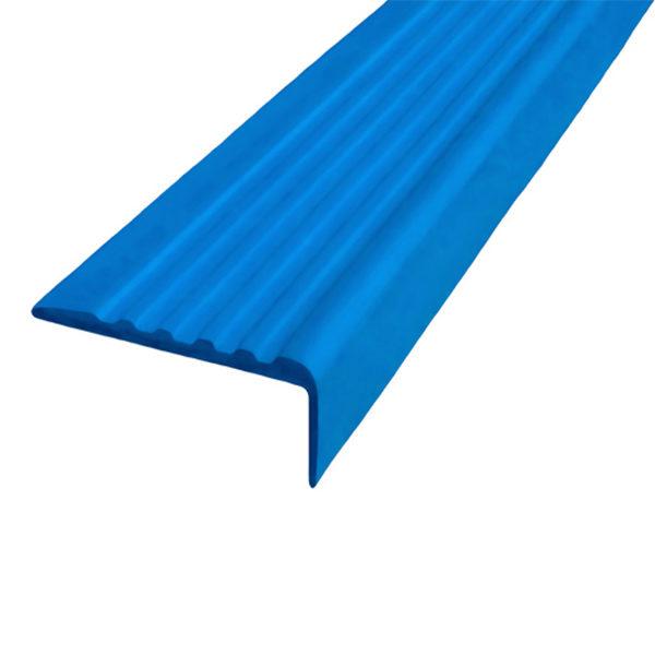 Противоскользящий угол для ступеней 35х15 мм самоклеющийся, синий, 12,5м