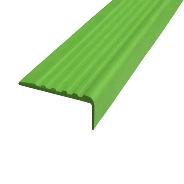 Противоскользящий угол для ступеней 35х15 мм самоклеющийся, зеленый, 12,5м