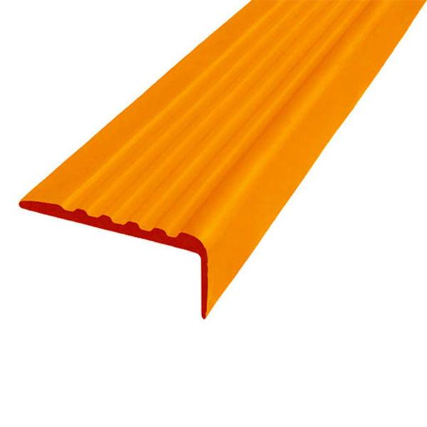 Противоскользящий угол для ступеней 35х15 мм самоклеющийся, оранжевый, 12,5м