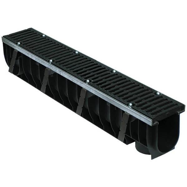 Лоток пластиковый MAX 100 с чугунными решетками (Е – до 60 т)