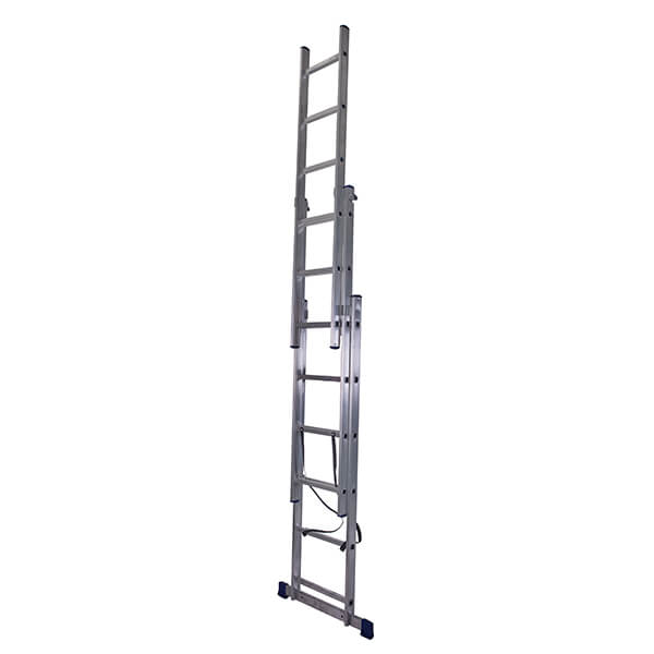Лестница алюминиевая трехсекционная универсальная 3х12 ступеней