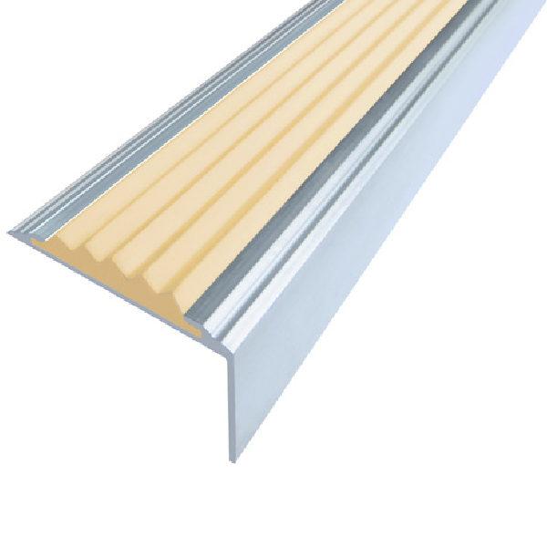 Противоскользящий алюминиевый угол Стандарт 1,0 м 38 мм/5,5 мм/20 мм бежевый