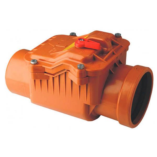 Обратный клапан для наружной канализации 110 мм