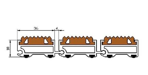 Грязезащитная решетка с приямком потайного типа