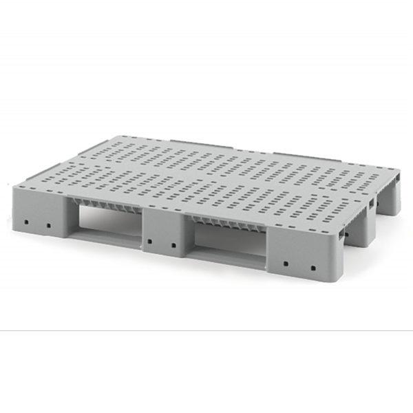 Паллет перфорированный 1200х800х150 мм для стеллажного хранения (без усиления)